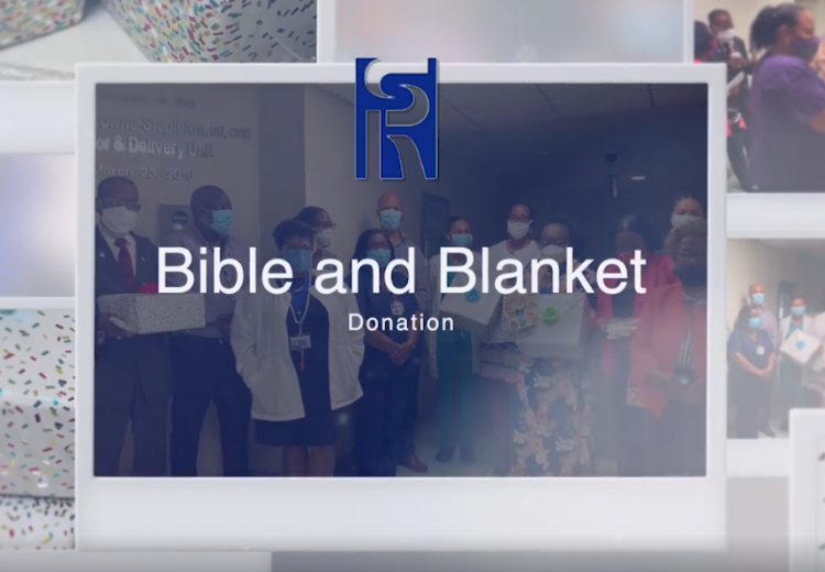 Bible and Blanket Donation